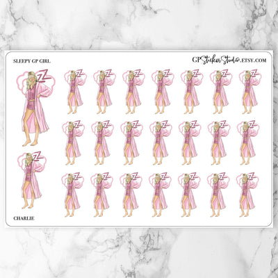 SLEEP IN GP Girl Planner Stickers-The GP Studio