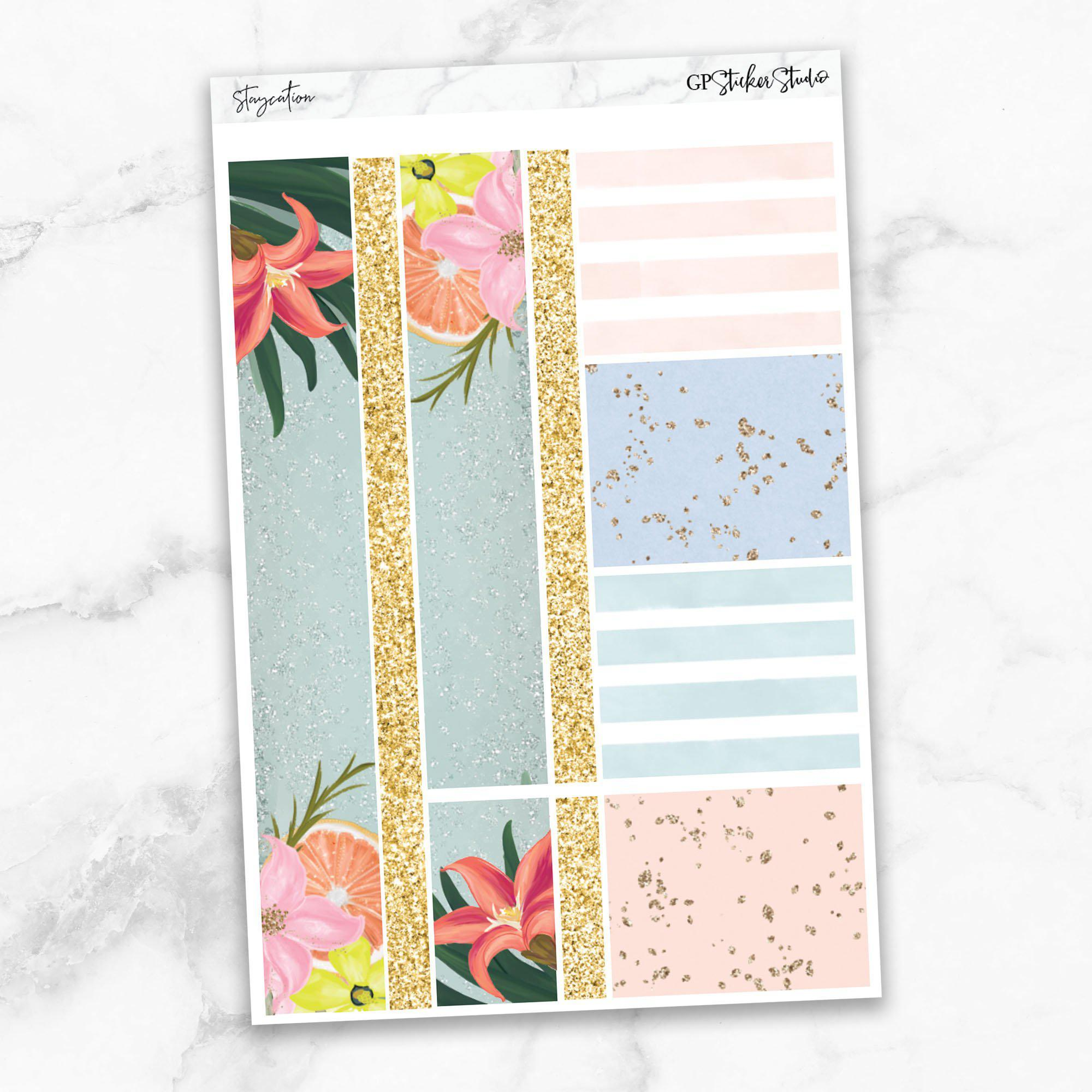 STAYCATION Washi Sheet Stickers-The GP Studio