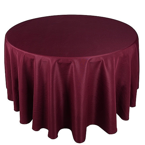 BURGUNDY 120 Inch POLYESTER ROUND Tablecloths