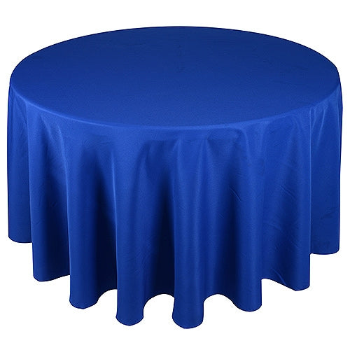ROYAL BLUE 90 Inch POLYESTER ROUND Tablecloths