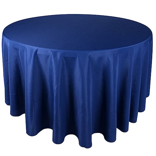 NAVY 90 Inch POLYESTER ROUND Tablecloths