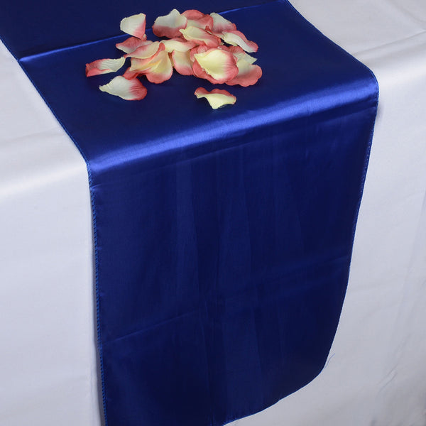ROYAL BLUE SATIN Table Runner - ( 12 inch x 108 inches )