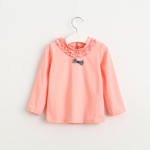 Cute Pink Peach Top with Bow | meemu.com | Kids fashion, accessories