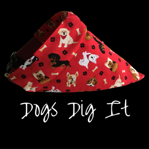 Dogs Dig It-Dog Bandana - Dogs Dig It