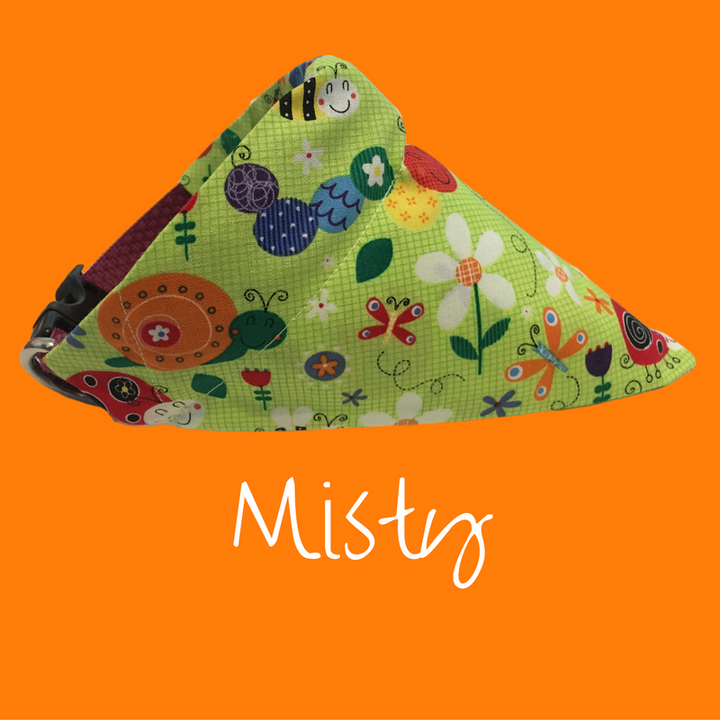 "Misty ""Find your Happy"" Dog Bandana - Dogs Dig It"