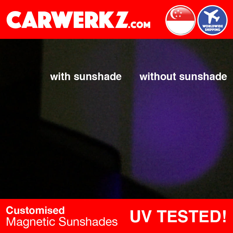 Seat Leon 2012 2013 2014 2015 2016 2017 2018 2019 3rd Generation (MK3 Typ 5F) Spain Hatchback Compact Customised Car Window Magnetic Sunshades 6 Pieces reduce sun heat and uv ray - carwerkz sg my au fr it mc