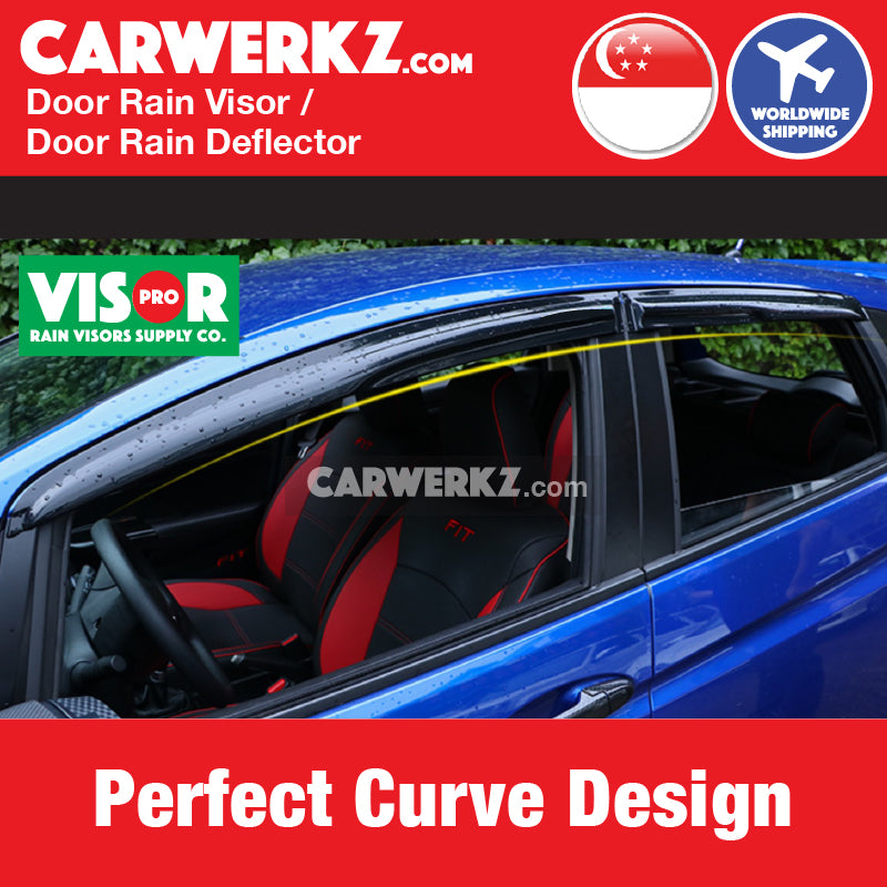 VISOR PRO Honda Vezel / HRV 2013-2019 2nd Generation Mugen Style Door Visors Rain Visors Rain Deflector Rain Guard Perfect Customised Curvage Design - CarWerkz Visor Pro