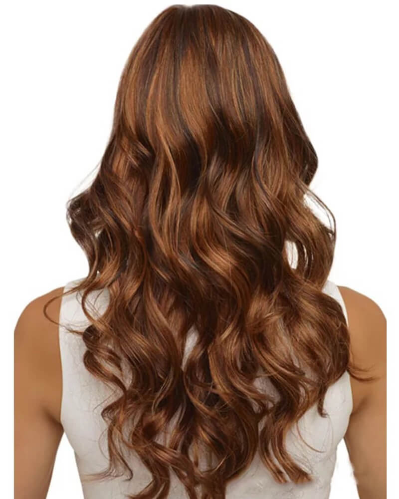 Brown Wave Long Synthetic Wig