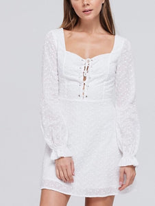 White Sweetheart Day Dress