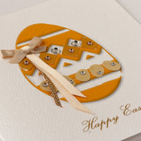 Handmade Easter Card 'Yellow Easter Egg'