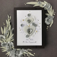 Luxury Boxed Engagement Card  'Joining Hearts'