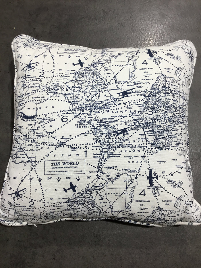 Airplane Map Pillow