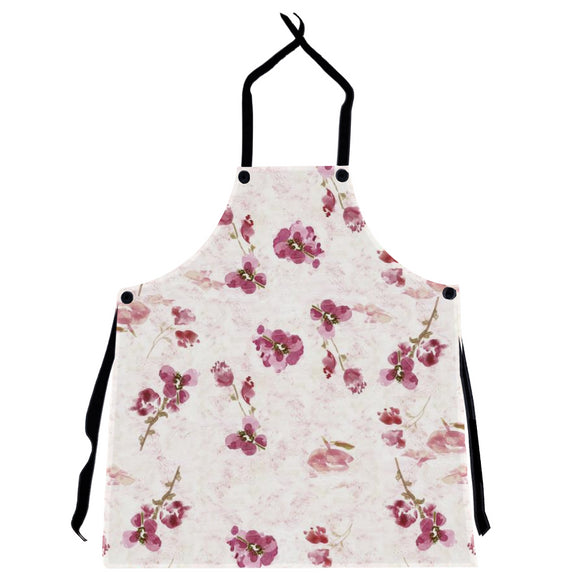 Spring Plum Floral Apron - Apron - Dreams After All