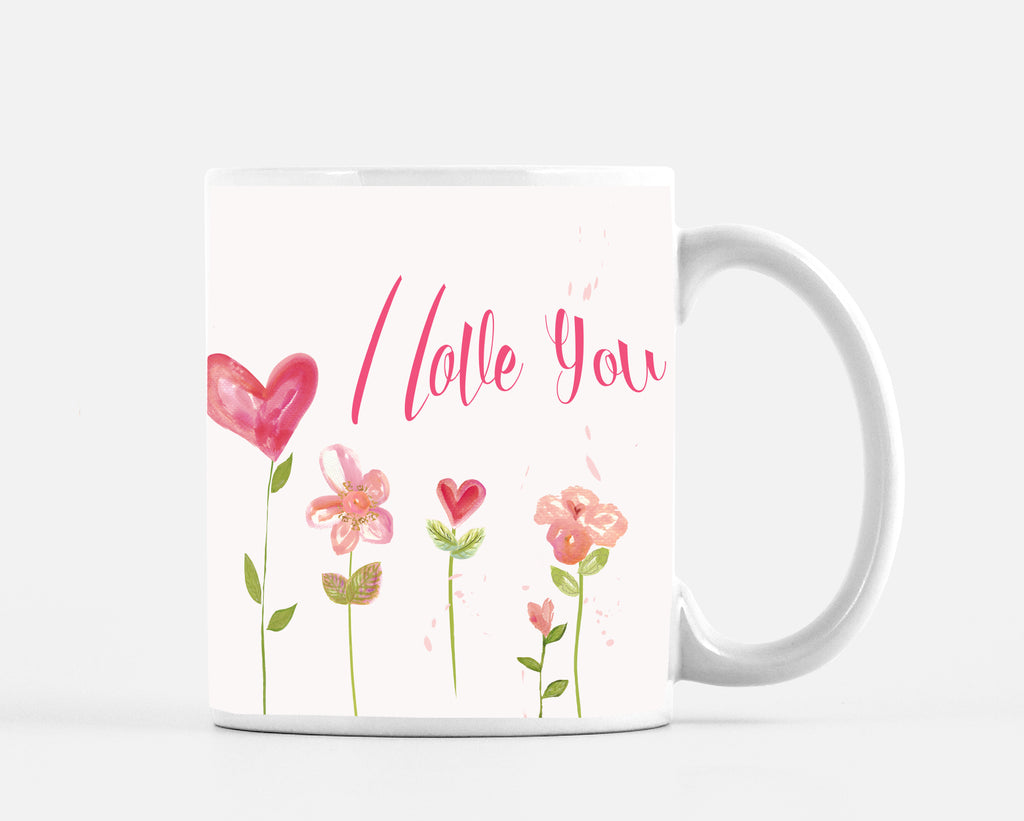 I Love You Baby Pink 15 ounce Mug - Mugs - Dreams After All