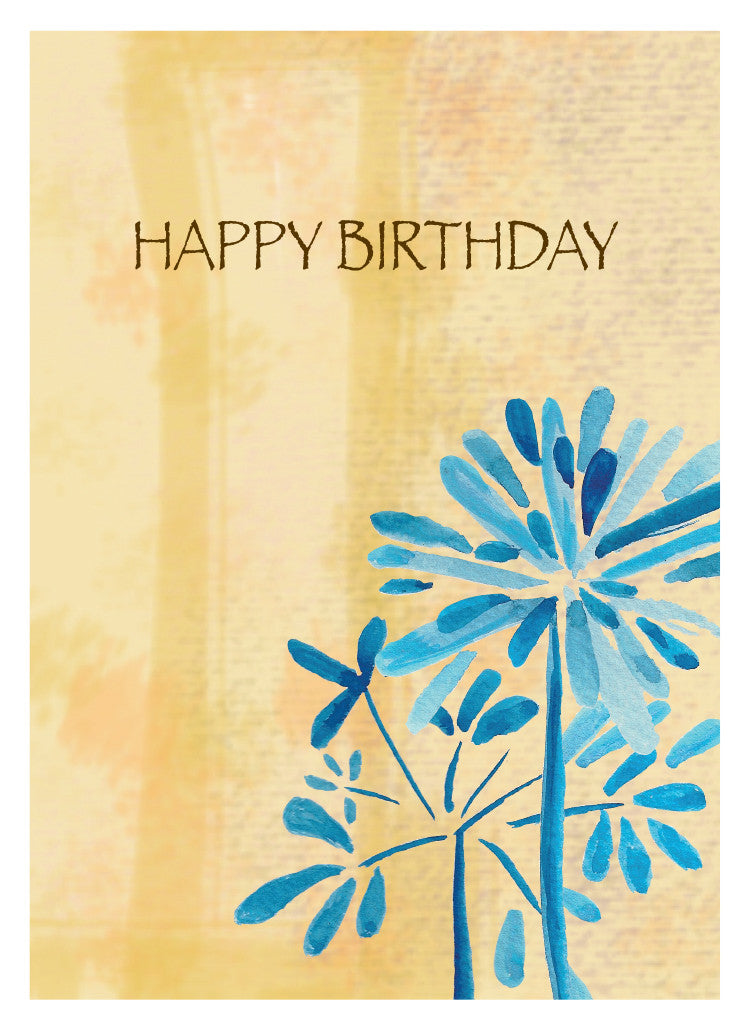 Blue Whisp Birthday Card - Greeting Card - Dreams After All