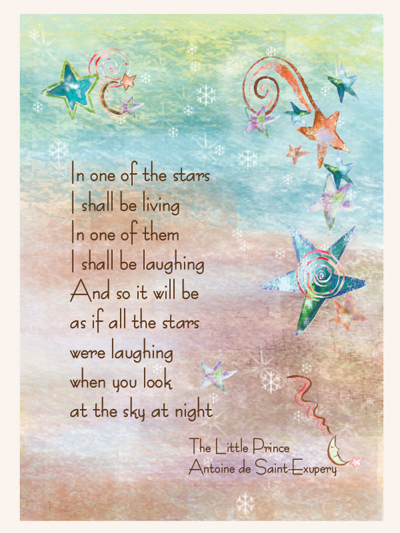 Little Prince St. Exupery Sympathy Card - Greeting Card - Dreams After All