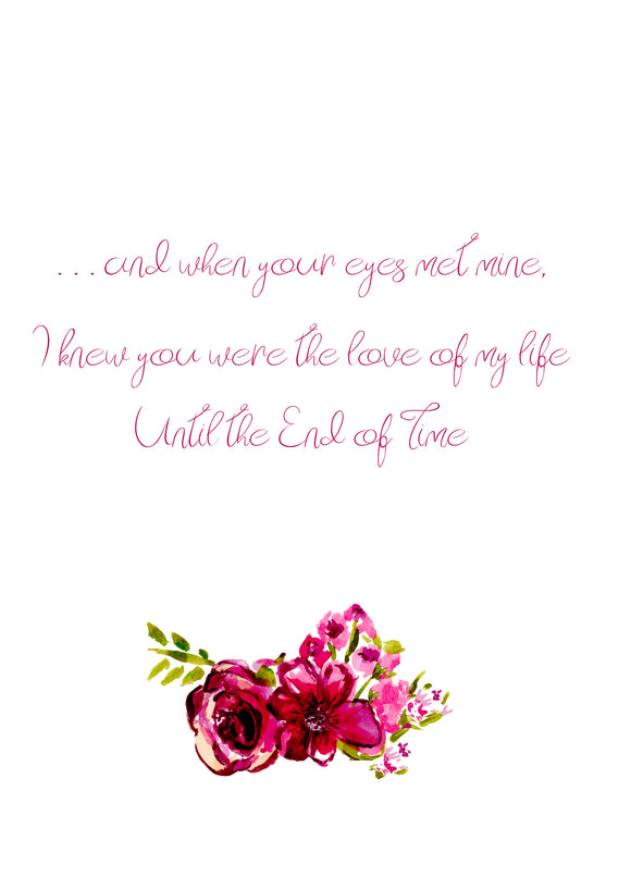End of Time Love Poem Greeting Card by Renée Rubach Handmade with Love - Greeting Card - Dreams After All