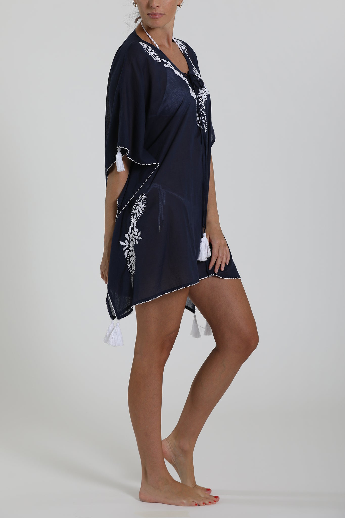 TIKEHAU - Kaftan Cover Up - Navy