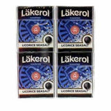 Läkerol Licorice Seasalt (Sugarfree) Pastilles 4 x 25g