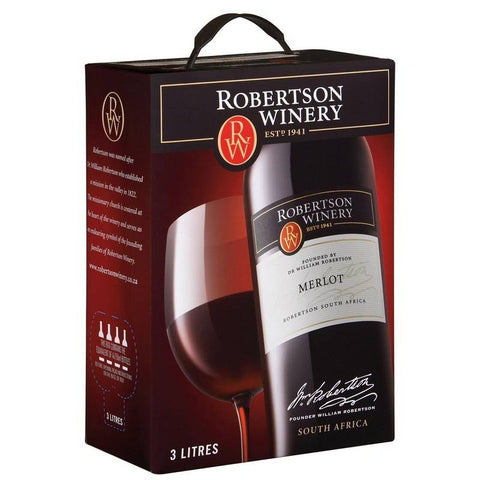 "Robertson Winery Merlot 13%   ""Bag in Box"" 3L"
