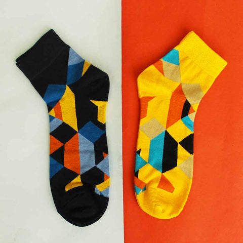 Pack of 2 Socks (Unisex): Edges & Colors II