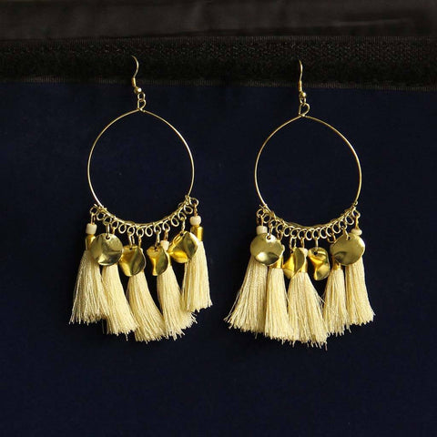 Round Tassel Earrings