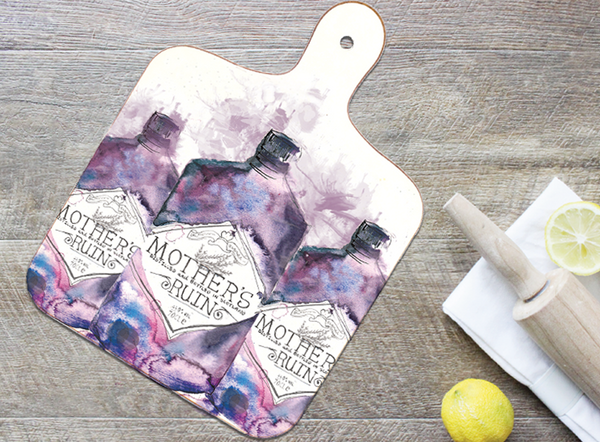 Small Mother's Ruin Gin Chopping Board
