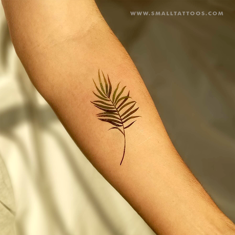 Palm Leaf Temporary Tattoo by Zihee (Set of 2)