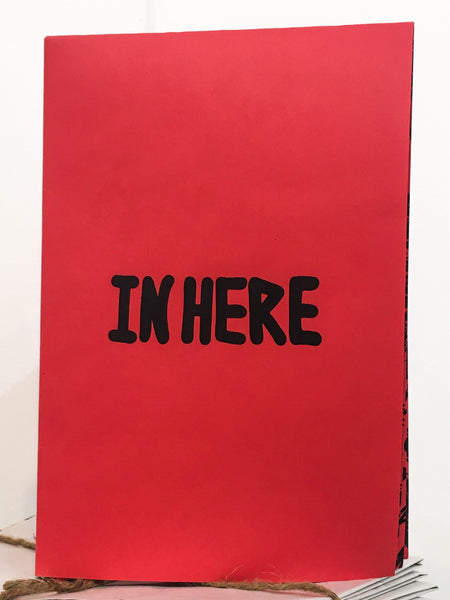 In Here (Zine in Red) Print by LeftyOutThere