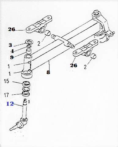 SFSA-4145  SPINDLE, FRONT AXLE