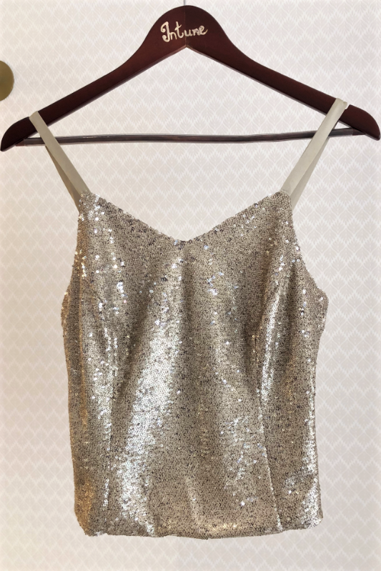 Cropped Sequin Top
