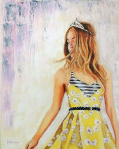 Chloe Anne | original 16 x 20 princess painting by Beverly Gurganus