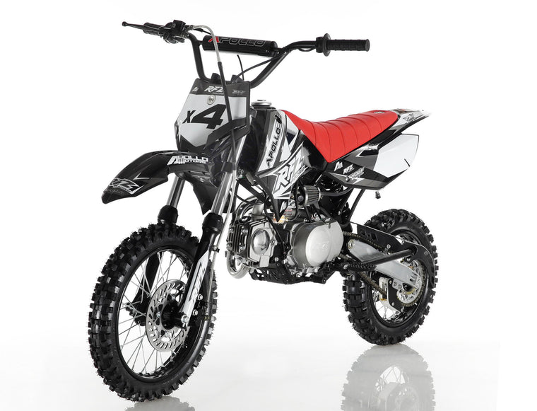 Apollo X4 110cc Dirt Bike Black