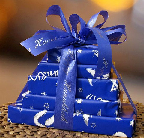 Happy Hanukkah 5 Tier Chocolate Gift Tower (c) 2015 Heartwarming Treasures®