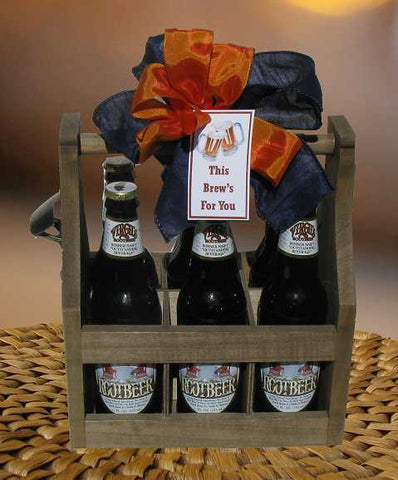 This Brews For You Root Beer Caddy Gift (c) 2018 by Heartwarming Treasures®