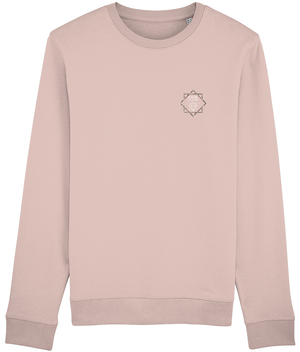 DIMOND SWEATSHIRT - NAVY // CREAM HEATHER PINK