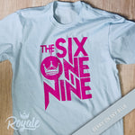 The Six One Nine 619 T-Shirt Berry on Sky Blue