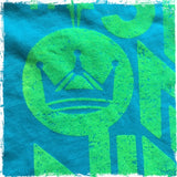 The Six One Nine 619 T-Shirt Beach Lime on Ocean Blue