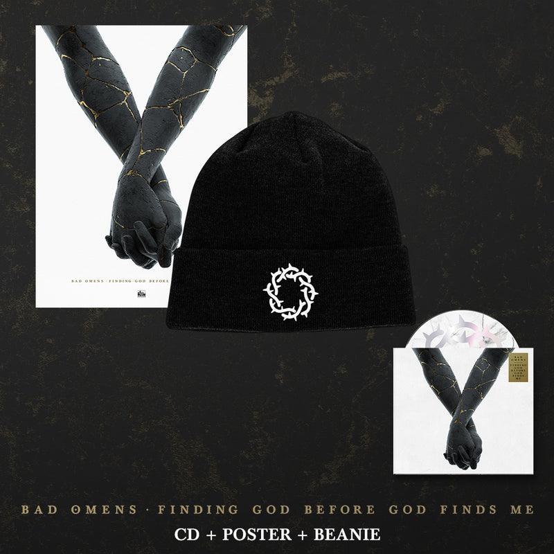 Bad Omens - 'Finding God Before God Finds Me' Thorns Beanie Pre-Order Bundle