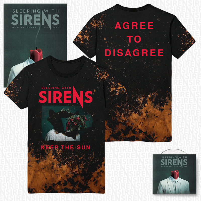 Sleeping With Sirens - 'How It Feels to Be Lost' Agree Acid Wash Tee Pre-Order Bundle