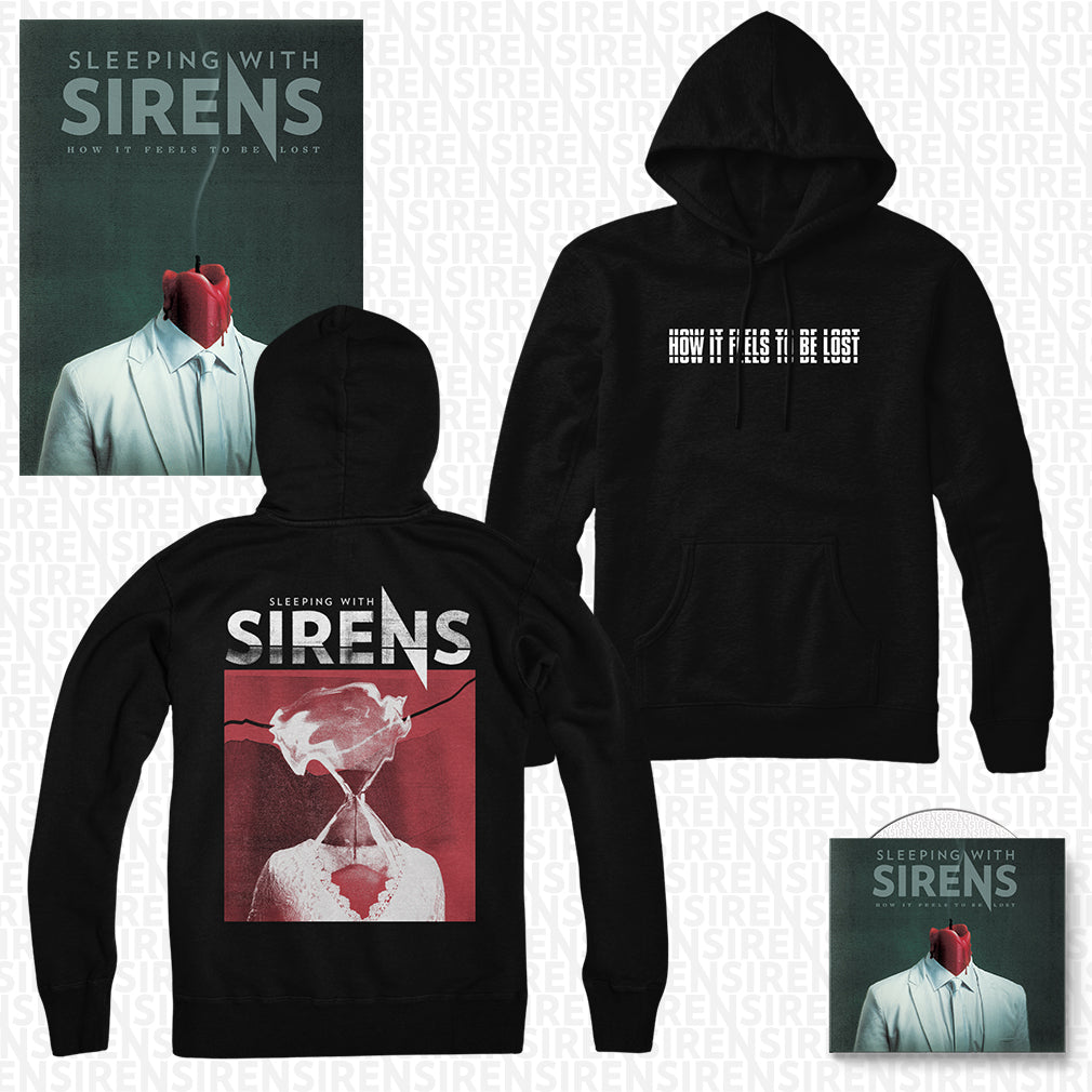 Sleeping With Sirens - 'How It Feels to Be Lost' Hourglass Pullover Hoodie Pre-Order Bundle