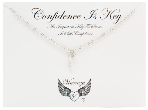 Silver Confidence Inspirational Necklace