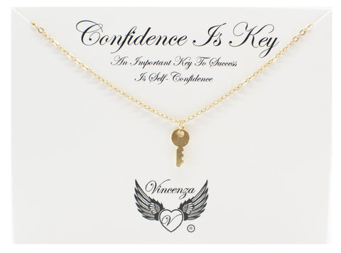 Gold Confidence Inspirational Necklace
