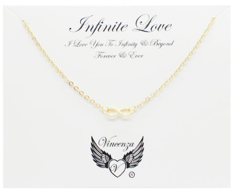 Gold Infinite Love Inspirational Necklace