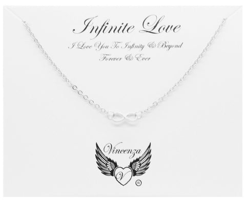 Silver Infinite Love Inspirational Necklace