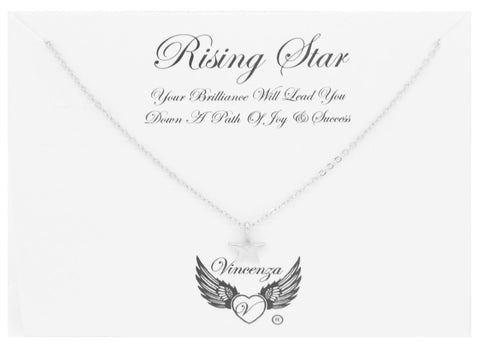 Silver Rising Star Inspirational Necklace