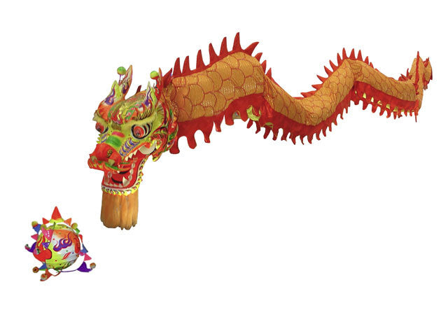 Decorative Golden Dragon - Southern Style