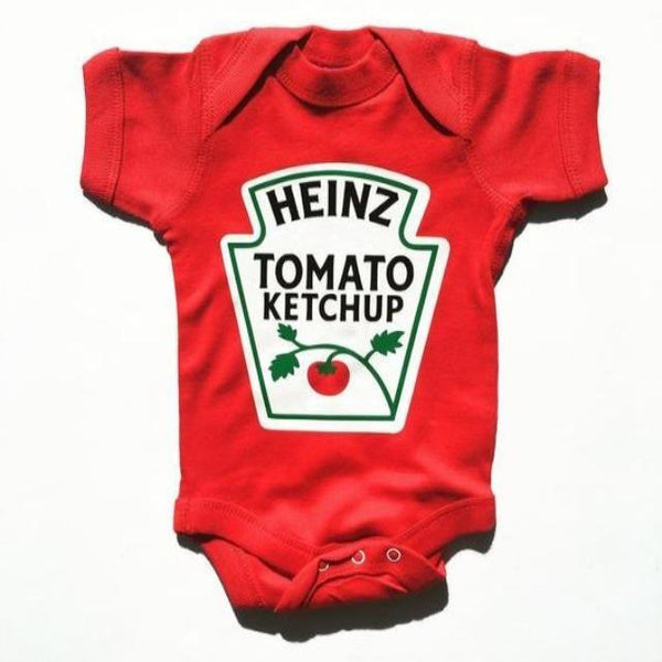 Red onesie that says Heinz Tomato Ketchup