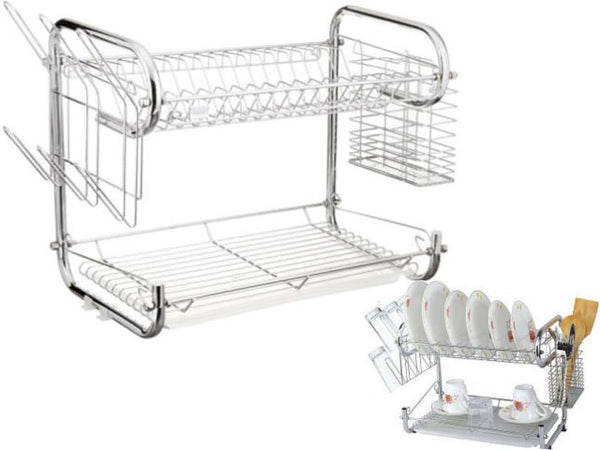 Double Tier Kitchen Dish Rack