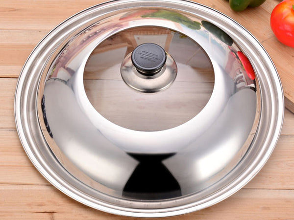 Stainless Steel / Glass Wok Cover